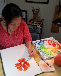 Photo of Nara painting Asian Poppy III
