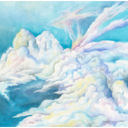 Atmosphere, Watercolor Painting for Jack Irons' Dream of Luminous Blue